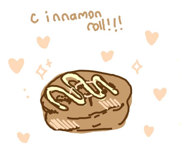 A FINE looking cinnamon roll