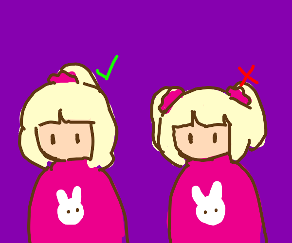1 ponytail is better than 2 ponytails