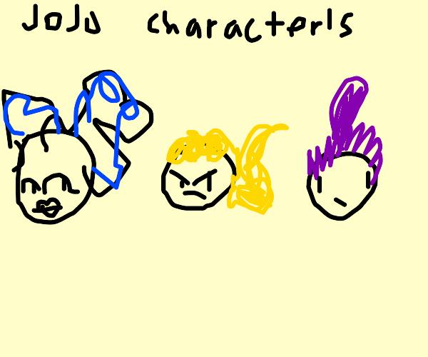 Some JoJo character's navel.