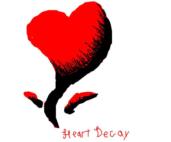 A digital heart doodle.