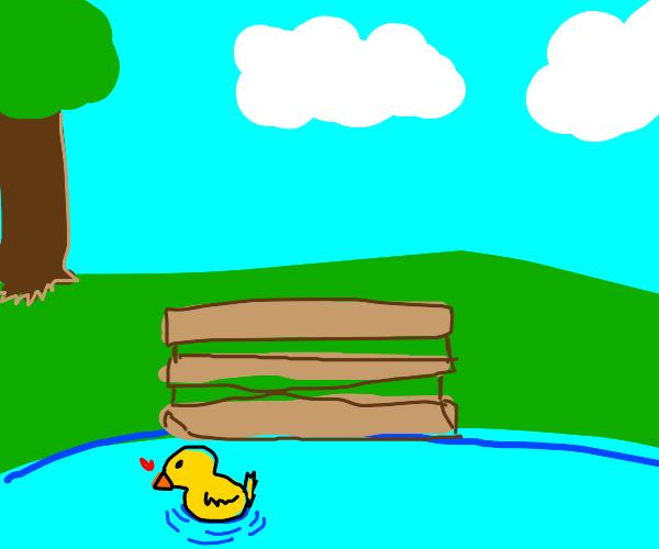 A duck (Ducksiesi123 will draw the phrase).