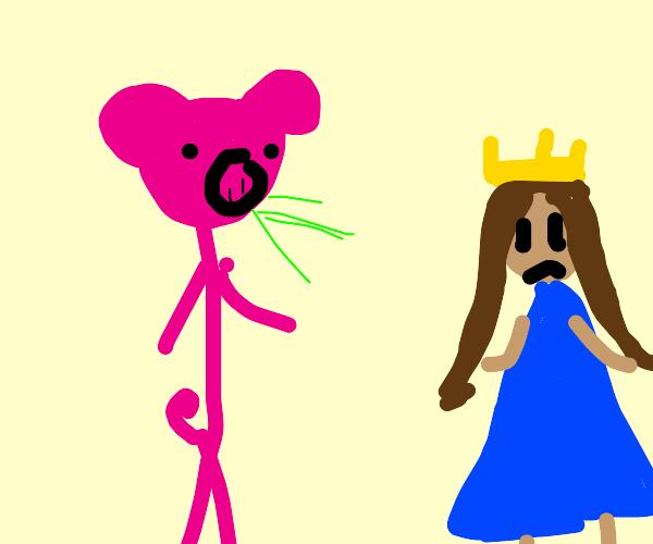 Pigman sneezes on disney princess