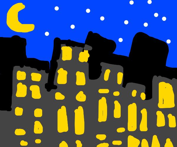 Night time city