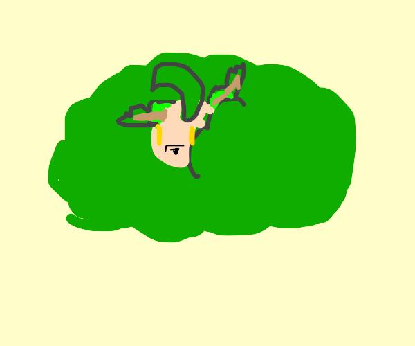 Leafeon in a bush