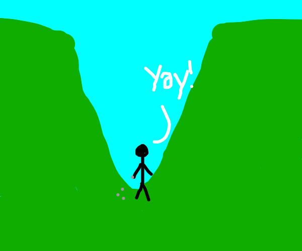 Playing marbles in a glen