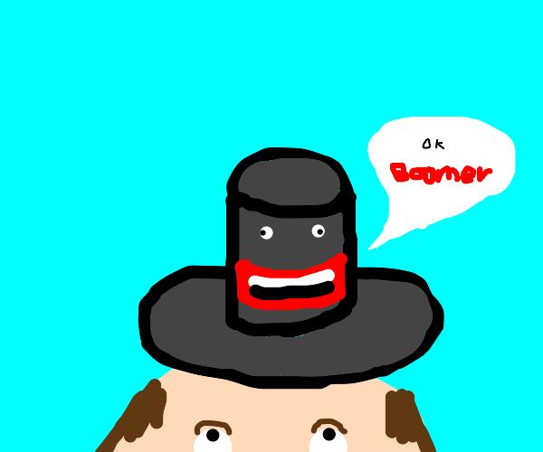 Hat says OK Boomer
