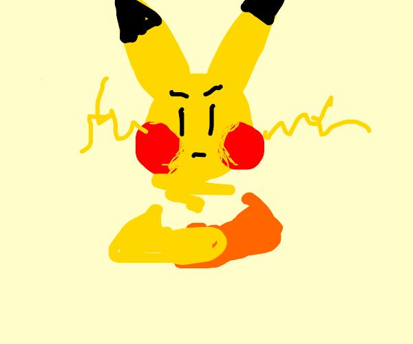 unamused pikachu