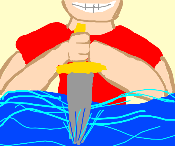 Killing water with a sword