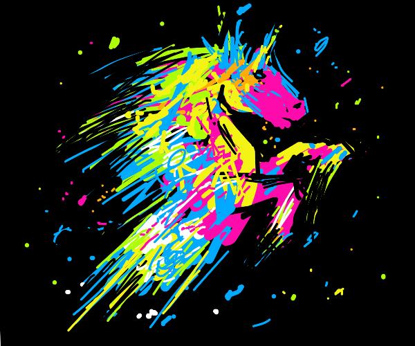 Splatter-paint horse
