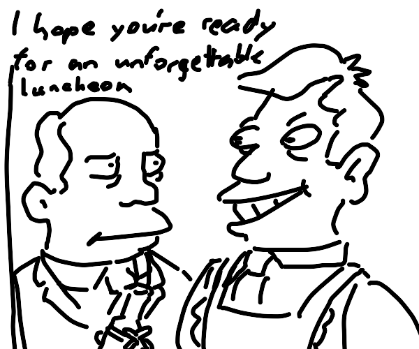 Steamed Hams but it's a Drawception game
