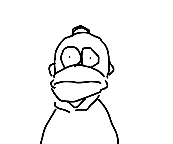 Homer Simpson front view
