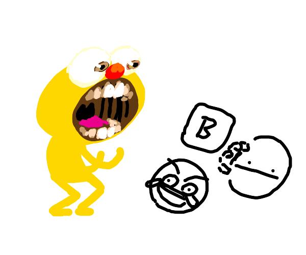 Yellmo yells at a bunch of memes