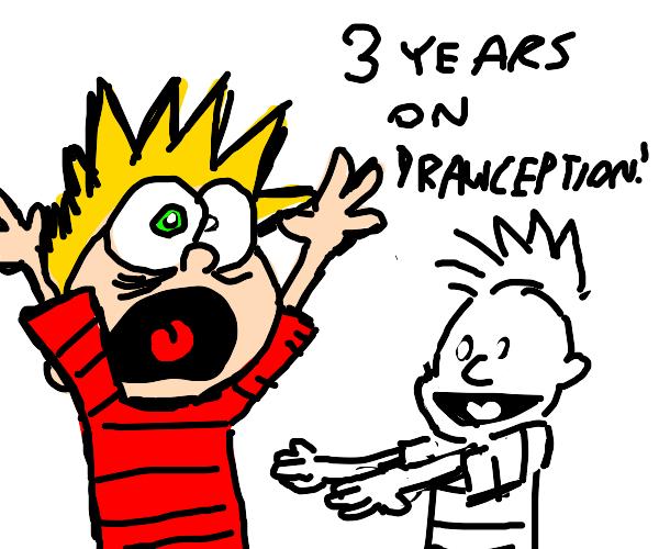 Calvin congratulating eighty8 on 3 years