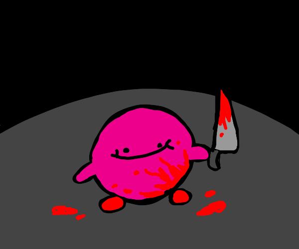 kirby commits a brutal murder