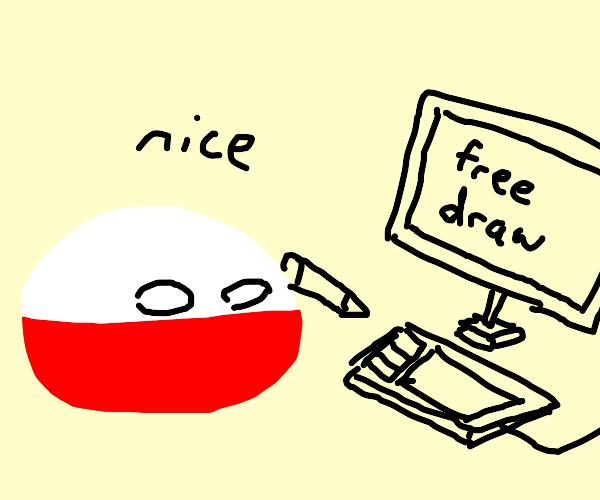 polandball freedraw, have at it