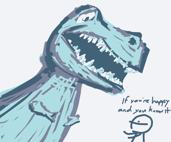 T-rex can't clap