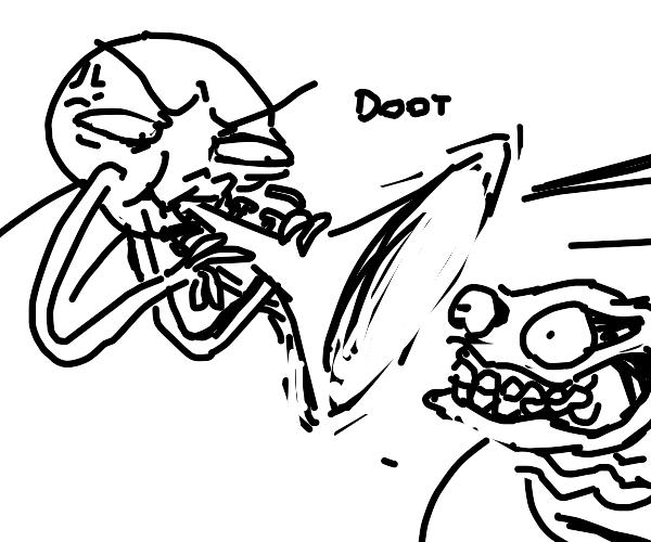 intense trumpet playing intensifies