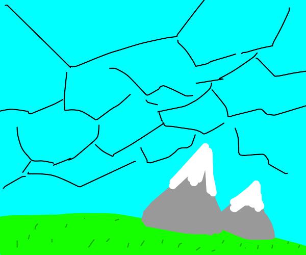 Shattering sky