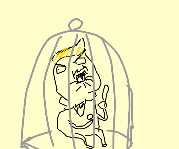 donald trump birb caged