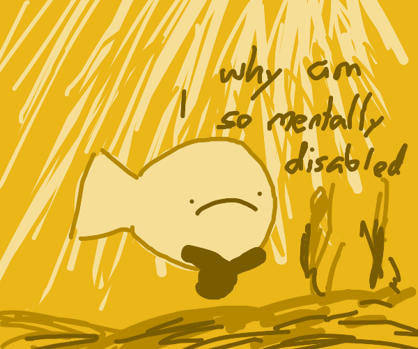 fish questioning its sanity