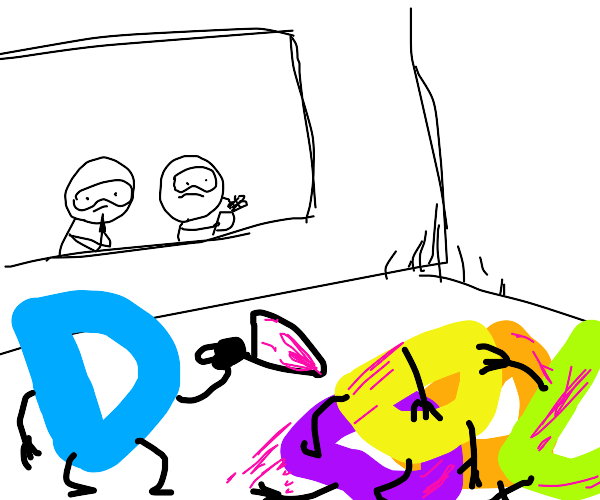 Scientists watch as a D-BOI kills one another