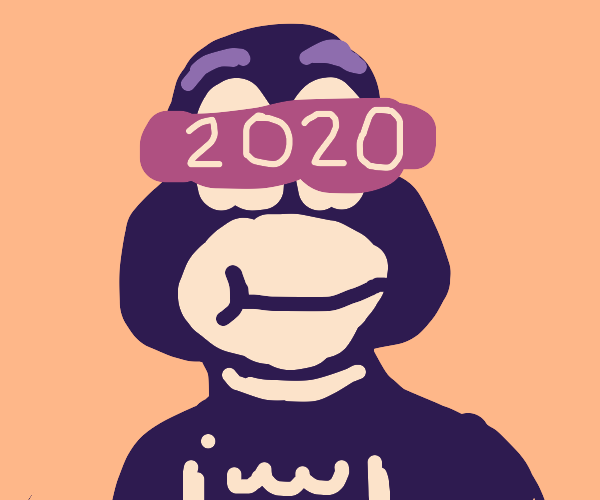 The Cat in a Hat with 2020 glasses.