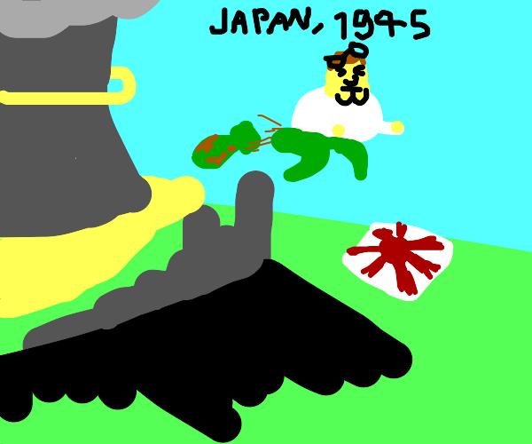 Hey Louis, look I destroyed Japan