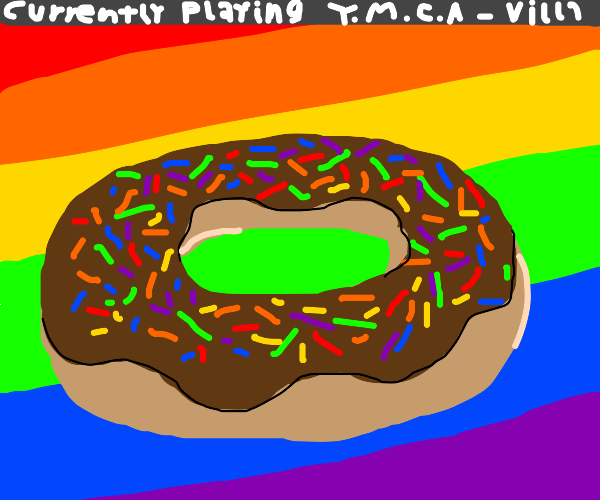 Donut with rainbow sprinkles