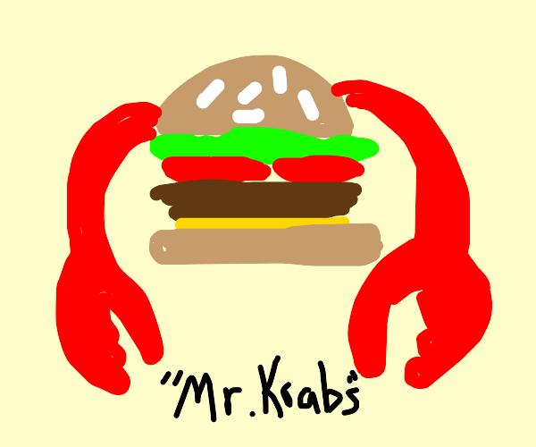 A Krabby nicknamed Mr. Krabs