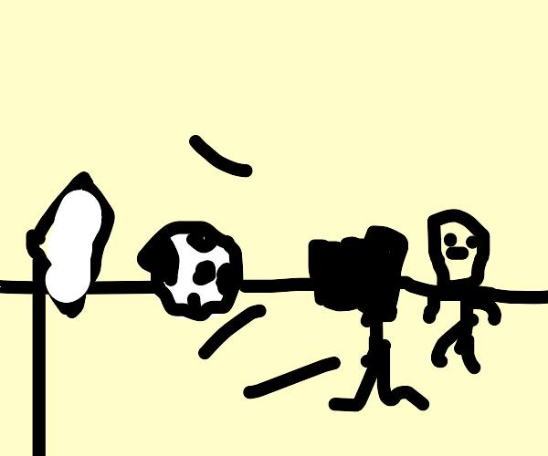 Soccer ball photoshoot