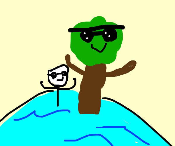 Swimming with a Tree