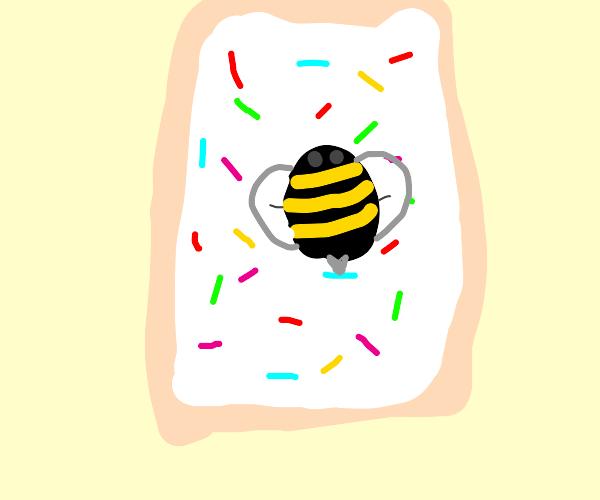 bee on a pop tart
