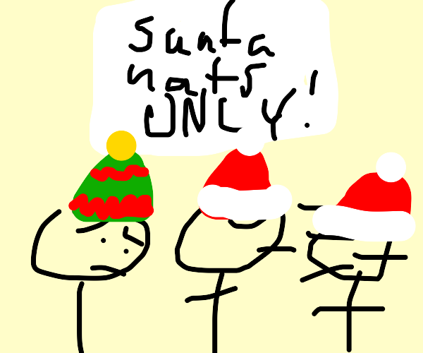 Santa Hat Only Club