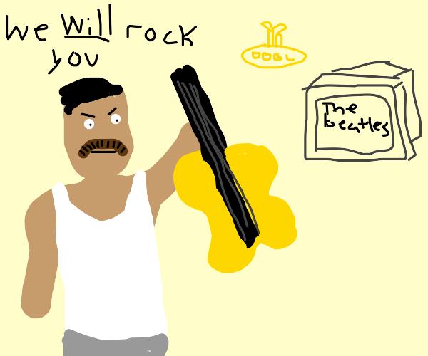 Freddie Mercury wants to invade Beatles