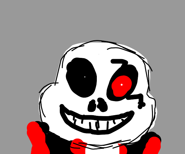 Sans with a scar and red eye