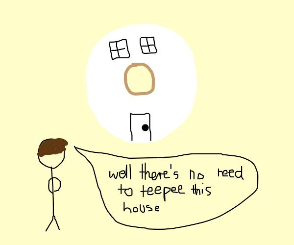 Toiletpaper house