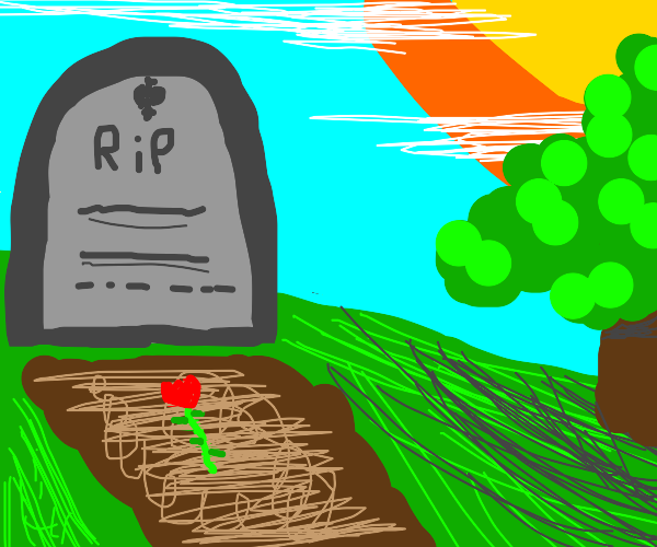 dramatic gravestone
