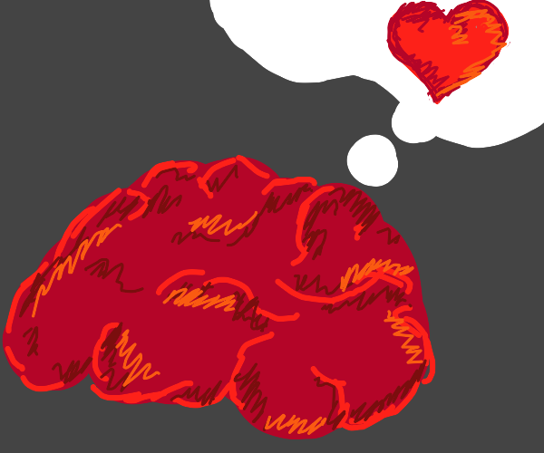 Brain thinking about love