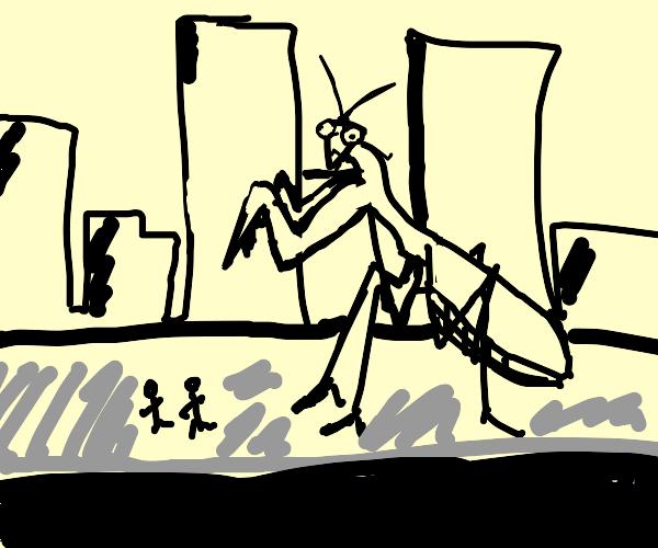 Towering Praying Mantis