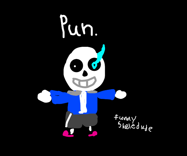 funny sans skeleton man guy