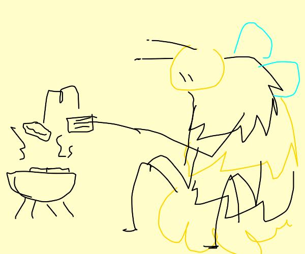 kaiju bee at barbecue