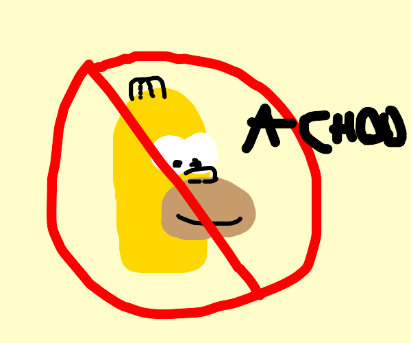 No sneezing Homer Simpson allowed