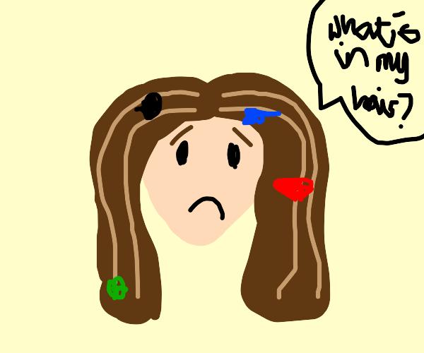 The things in my hair