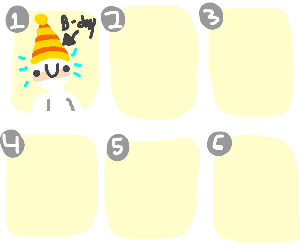 Panel 1 Goes to a birtday
