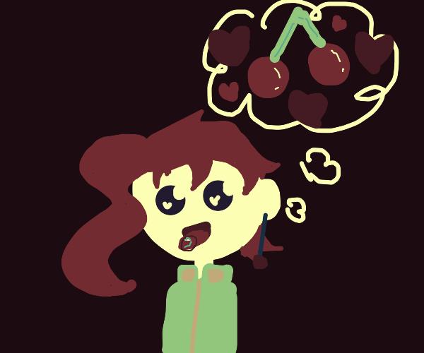 Kakyoin loves cherries(rerorerorero)