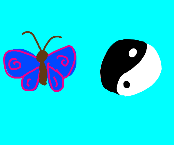 Butterfly and Yin-Yang