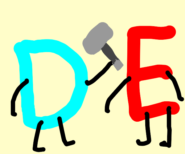 Drawception D fights red E