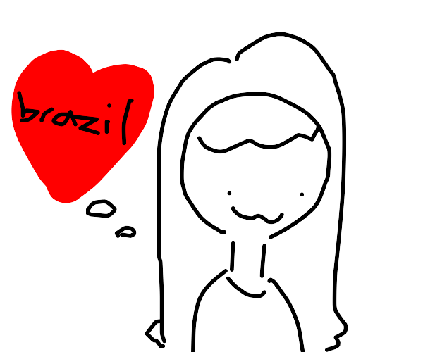 woman loves brazil