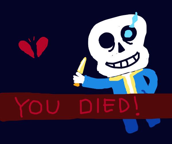 Undertale death screen