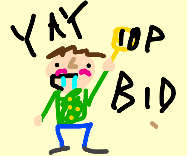 Derpy guy, presenting a bin for -ten pounds